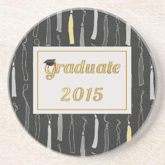 Casquillo graduado del oro con el fondo 2015 de la posavasos personalizados