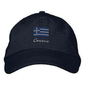 Casquillo griego - gorra griego de la bandera gorra bordada