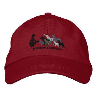 Casquillo gris bordado del logotipo gorra de béisbol bordada