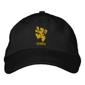 Casquillo heráldico bordado del león o del grifo gorra de béisbol