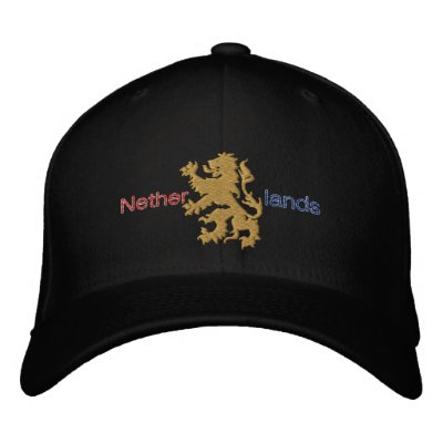 Casquillo holandés del león del oro del casquillo gorra de beisbol bordada