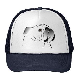 Casquillo inglés del dogo gorra