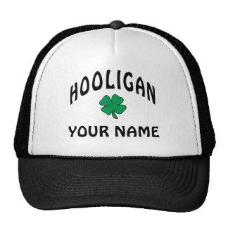 Casquillo irlandés personalizado del gamberro gorros bordados