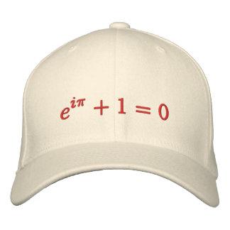 Casquillo: La identidad de Euler bordada, grande,  Gorra Bordada