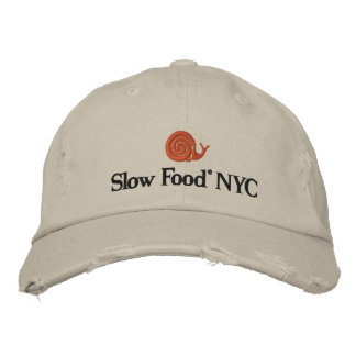 Casquillo lento de la comida NYC Gorra Bordada