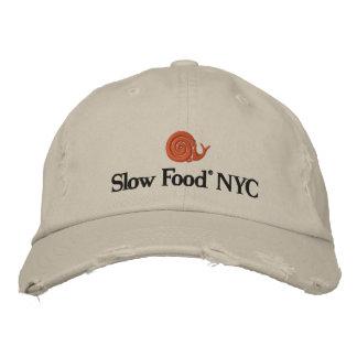Casquillo lento de la comida NYC Gorras De Beisbol Bordadas