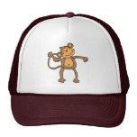 casquillo lindo del mono gorras de camionero