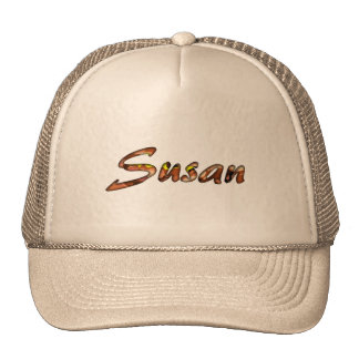 Casquillo marrón de la malla de Susan para las señ Gorra