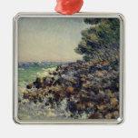 Casquillo Martin, 1884 de Claude Monet el | Adorno Navideño Cuadrado De Metal