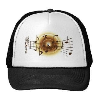 Casquillo máximo elegante de las notas musicales gorras