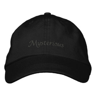 Casquillo misterioso gorra de béisbol bordada