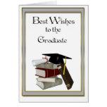 Casquillo negro de la enhorabuena graduada tarjeton