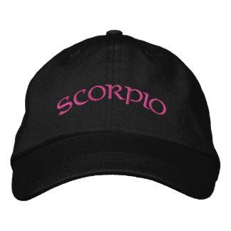Casquillo negro/magenta del zodiaco del escorpión gorra bordada