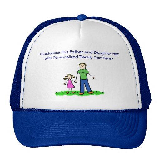 Casquillo o gorra de encargo de la niña del papá (