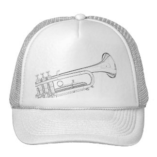 Casquillo o gorra de golf del dibujo de la trompet