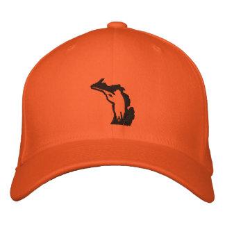Casquillo orgulloso del cazador de Michigan Gorra De Béisbol Bordada