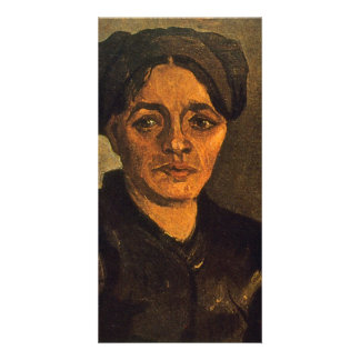 Casquillo oscuro de Vincent van Gogh Tarjetas Fotograficas Personalizadas