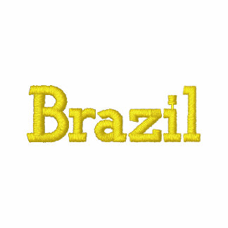 Casquillo patriótico del diseñador del BRASIL Sudadera Bordada Con Capucha