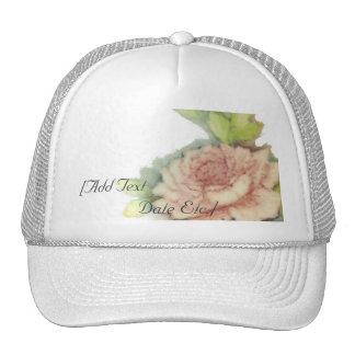 Casquillo-Personalizar color de rosa inglés Gorra