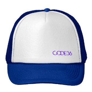 Casquillo púrpura/blanco de CODE36 Gorros