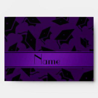 Casquillo púrpura conocido personalizado de la gra sobres