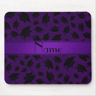 Casquillo púrpura conocido personalizado de la gra alfombrillas de ratón