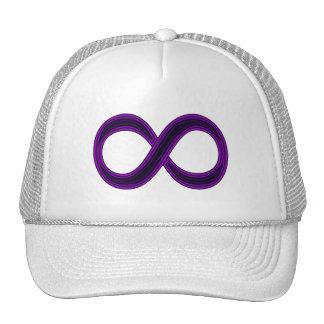 Casquillo púrpura del símbolo del infinito gorros