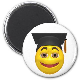 Casquillo que lleva de graduación amarillo del smi imanes para frigoríficos