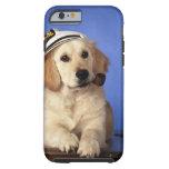 Casquillo que lleva del perro, sosteniendo el tubo funda de iPhone 6 tough