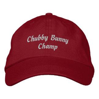Casquillo rechoncho del campeón del conejito - roj gorras de béisbol bordadas