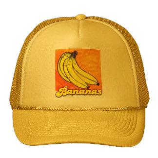 Casquillo retro de los plátanos gorros bordados