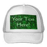 Casquillo retro del gorra del verde esmeralda de l