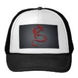 Casquillo rojo del dragón gorras