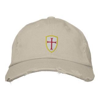 Casquillo rojo del escudo de la cruz del cruzado gorra de beisbol