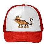 casquillo rojo lindo del tigre gorro de camionero