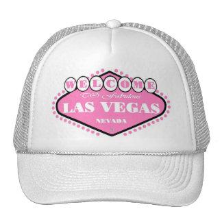 Casquillo ROSADO del logotipo de Las Vegas Gorro De Camionero