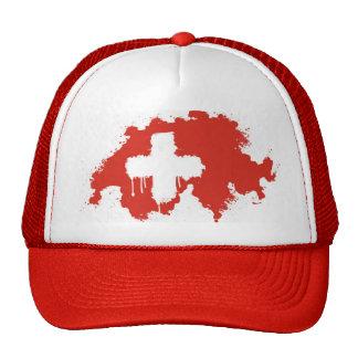 Casquillo suizo del camionero de la bandera gorras