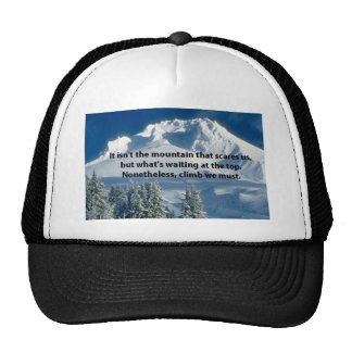 Casquillo superior de los escaladores de la montañ gorra