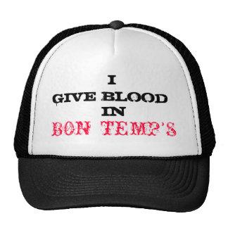 Casquillo verdadero de la sangre gorros