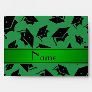 Casquillo verde conocido personalizado de la sobres