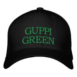 Casquillo verde de Guppi Gorra De Béisbol Bordada
