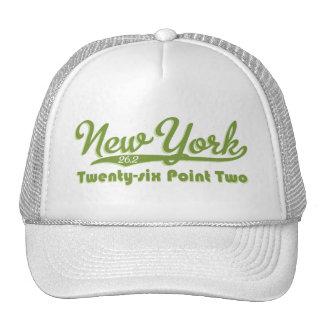 Casquillo verde del maratón de Nueva York 26,2 Gorra