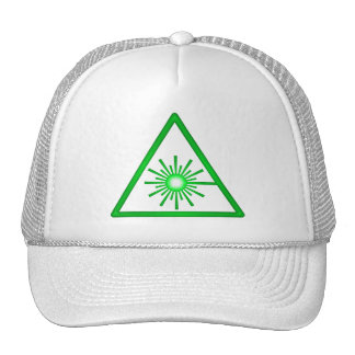 Casquillo verde del símbolo del laser gorras