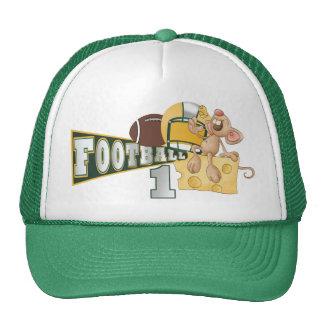 Casquillo verde y amarillo del campeón del fútbol  gorras de camionero