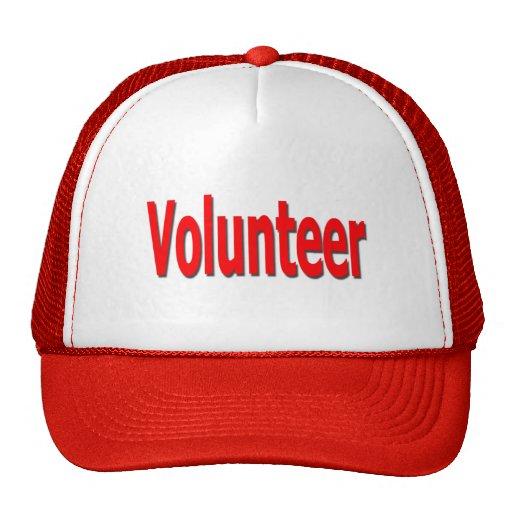 casquillo voluntario gorros bordados
