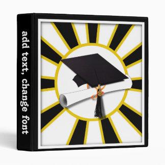 """Casquillo w/Diploma de la graduación - oro y negro Carpeta 1"""""""