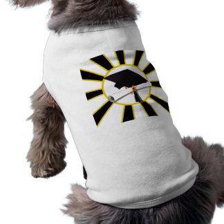 Casquillo w/Diploma de la graduación - oro y negro Camiseta Sin Mangas Para Perro