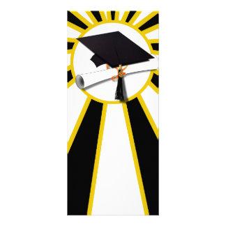 Casquillo w/Diploma de la graduación - oro y negro Tarjetas Publicitarias Personalizadas