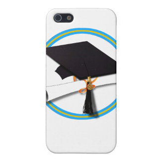 Casquillo w/Diploma del graduado - la escuela iPhone 5 Carcasas