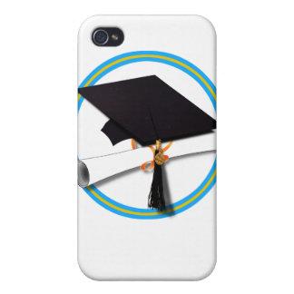 Casquillo w/Diploma del graduado - la escuela iPhone 4 Carcasa